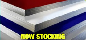 Now Stocking in yellow on  red, white, and blue aluminum sheets