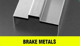 Brake metals in a yellow bar with brake metals above it against a grey/black background